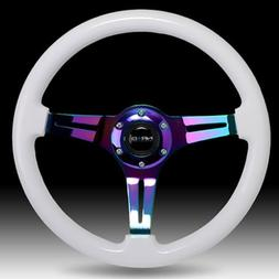 NRG ST-015MC-WT 350mm Classic Wood Grain White Steering Whee