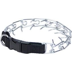 Coastal Pet Easy-On Chrome-Plated Dog Prong Training Collar
