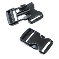 Side Quick Release Plastic Black Buckles - 1.25 Inch