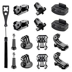 Followsun 15-in-1 Action Camera Accessories Kit for GoPro He