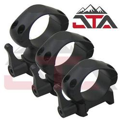"ATG 1"" Inch Rifle Steel Scope Rings Quick Release Picatinny"