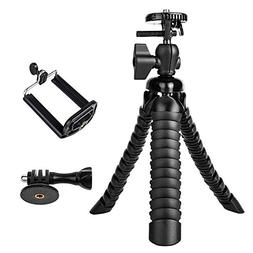 3 in 1 Universal Flexible Tripod 8'' Stand Holder Wrapable L