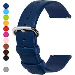 12 Colors for Quick Release Leather Watch Band, Fullmosa Uli