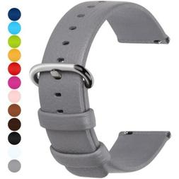 Fullmosa 12 Colors for Quick Release Leather Watch Strap, Ul