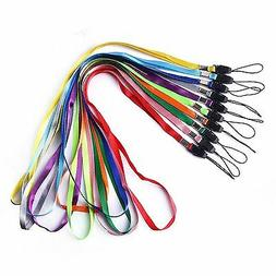 17-inch Long Colorful Quick Release Neck Lanyards Straps Bul