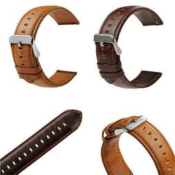 18-20-22-23mm Retro Leather Watch Band Replacement Quick Rel