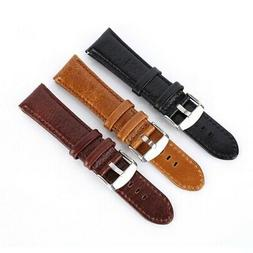 18mm-24mm  Leather Watch Wrist Band Quick Release Strap Repl