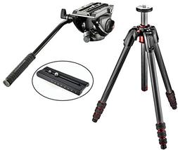 Manfrotto 190GO! Carbon Fiber Tripod W/ Twist Locks and a MV