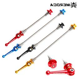 1Pair Bike Skewers Ultralight Quick Release Titanium Skewers