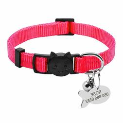 1x Personalized Nylon Quick Release Engraved Id Collar Tags