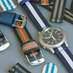 2 Piece RAF NATO Nylon Replacement Quick Release Watch Band