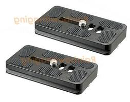 2 x 70mm Quick Release Plate Arca-Swiss Type for Canon Nikon