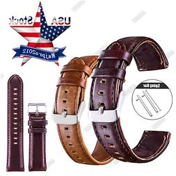 20 22mm Quick Release Leather Watch Band Wrist Strap or Sams