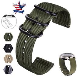 20 22mm Quick Release Military Woven Nylon Canvas Fabric Ban