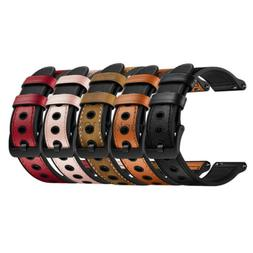 20mm 22mm Quick Release Genuine Leather and Rubber Hybrid Wr