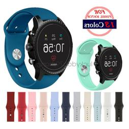 20mm 22mm Soft Silicone Sport Watch Band Strap For Fossil Wa