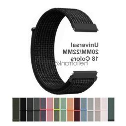 20mm 22mm Woven Nylon Sport Loop Watch Band Strap Quick Rele