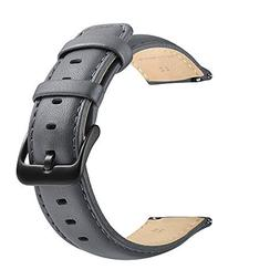 22mm Watch Band, LEUNGLIK Quick Release Leather Watch Strap