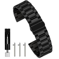 Berfine 22mm Quick Release Watch Strap,Premium Solid Stainle