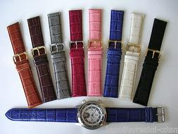 24mm Crocodile calf XL extra long Quick Release watch band s