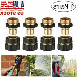 """3/4"""" Brass Hose Connector Faucet Garden Water Pipe Quick Rel"""
