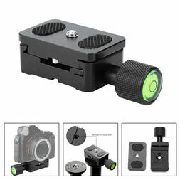 30mm 1/4 Quick Release QR Plate Clamp Adapter Mount  For Cam