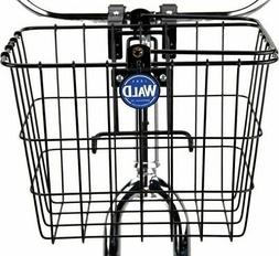 Wald 3114 Compact Front Quick Release Bicycle Basket with Bo