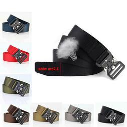 32mm Wide Mens Tactical Military Waist Belt with Quick Relea