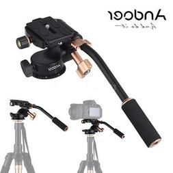 Andoer 360° Damping Video Tripod Head+Pan Bar Handle for DS
