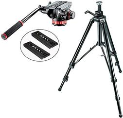 Manfrotto 475B Aluminum Pro Geared Tripod Kit with Manfrotto