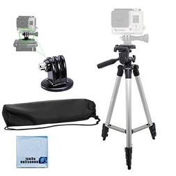"50"" Aluminum Camera Tripod with Built in Bubble Level Indica"