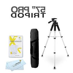 57 Camera Camcorder Tripod w/ Carrying Case For Samsung F90,