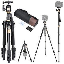 60 Inch Compact Camera Travel Tripod 360 Degree Swivel Ball