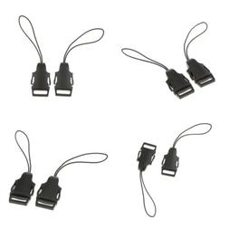 8Pieces Mini QR Loops Neck Strap Adapter Quick Release Buckl