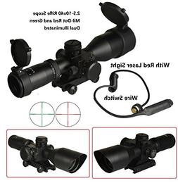 BTC Tactical 2.5-10x40 Rifle Scope with Illuminated Range Fi
