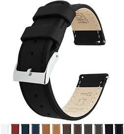 Barton Quick Release Top Grain Leather Watch Band Strap - Ch