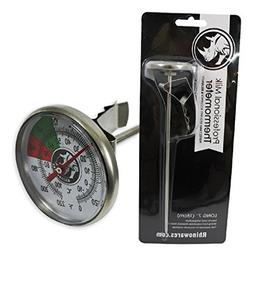 BrewGlobal Rhinoware Thermometer, Stainless Steel Long
