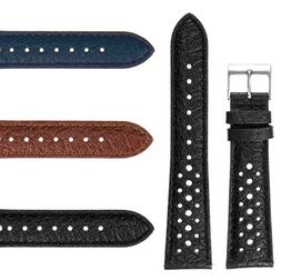 DASSARI Vintage 70's Perforated Leather Rally Watch Band Qui