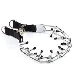 Dog Pinch Collar Training Metal Gear Pets Prong Collar, with