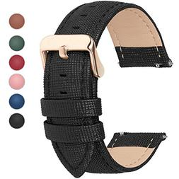 Fullmosa 6 Colors for Quick Release Leather Watch Band, Cros