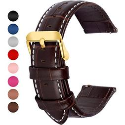 Fullmosa 7 Colors Quick Release Leather Watch Band, Bamboo S