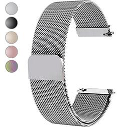 Fullmosa Compatible Gear S3 Bands, Milanese Loop 22mm Watch