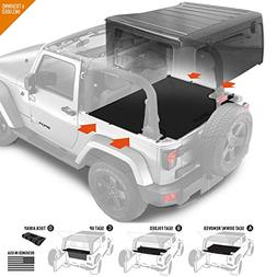 GPCA Jeep Wrangler 2DR JK Trunk Cargo Cover with seat Holdin