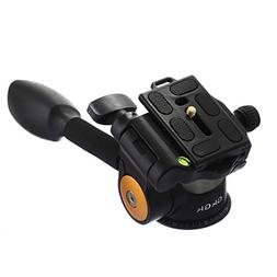 GkGk G06 Tripod Pan Head, 360 Degrees Smooth Rotation Hydrau