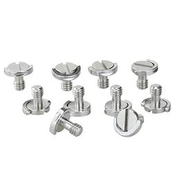 """Haoge 1/4""""-20 D-Ring Stainless Steel Mounting Fixing Screw f"""