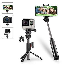 KocoDoll Bluetooth Selfie Stick, 4 in 1 Extendable Selfie St