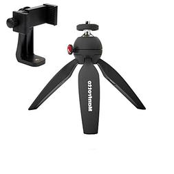 Manfrotto MTPIXI-B PIXI Mini Tripod, Black, With A ZAYKiR Un