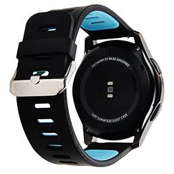 Maxjoy for Gear s3 Bands,22mm Silicone Smart Watch Band Spor