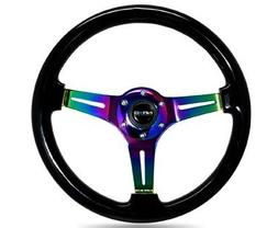NRG Innovations ST-015MC-BK Classic Wood Grain Wheel