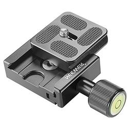 Neewer 40mm Metal Quick Release Clamp With Plate and Spirit